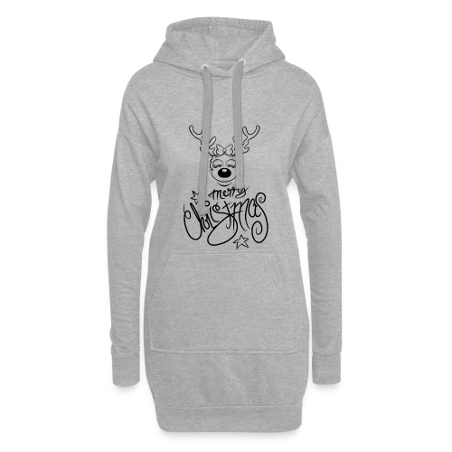 Merry Christmas. without Ears - Hoodie-Kleid