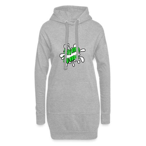 Slyme Tyme Logo / Green To White - Hoodie Dress
