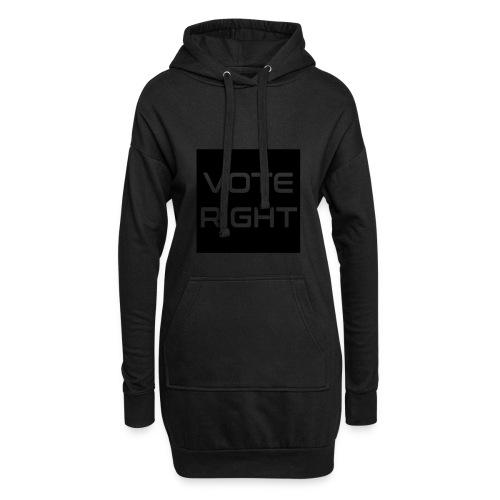 vote right - Hoodie-Kleid