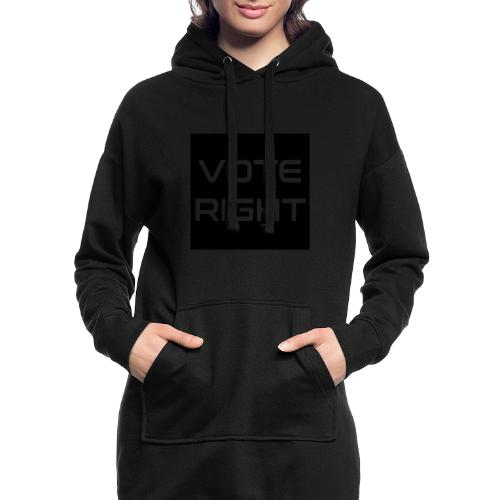 vote right - Hoodie-Kleid