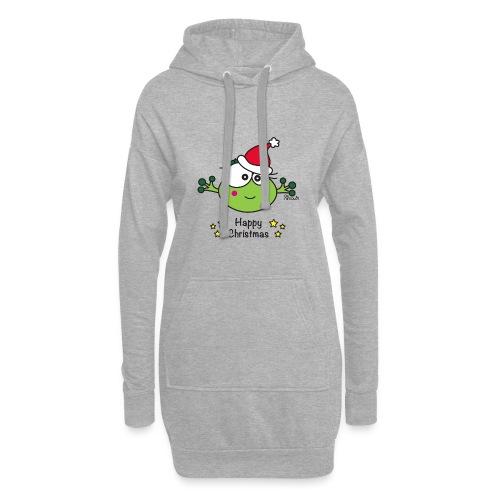 Grenouille F, Frog, Fêtes Nôel, Happy Christmas - Sweat-shirt à capuche long Femme