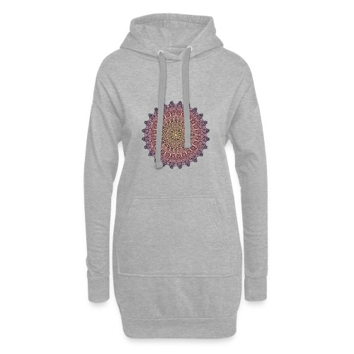 Mandala Sonnenuntergang - Hoodie-Kleid