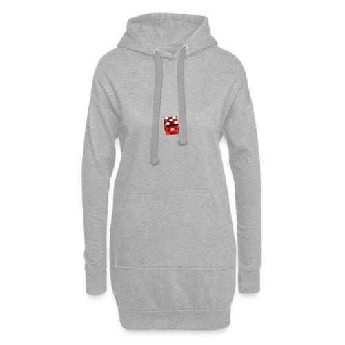 Würfel Rot - Hoodie-Kleid