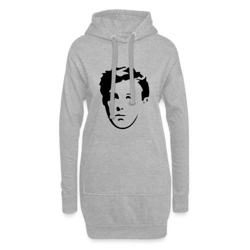 Arthur Rimbaud visage - Sweat-shirt à capuche long Femme