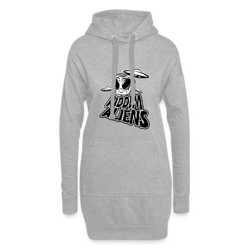 Riddim Aliens (Black Design) - Hoodie Dress