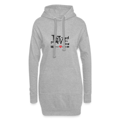 Love flêche - Sweat-shirt à capuche long Femme