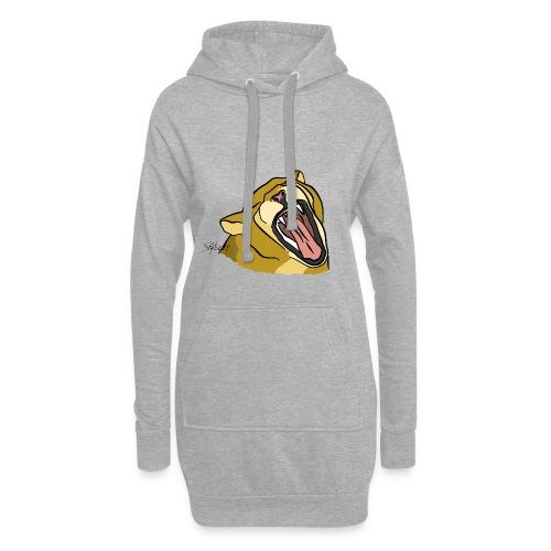 Gähnender / brüllender Löwe - Hoodie-Kleid