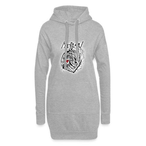 wesen mit herz und logo - Hoodie-Kleid
