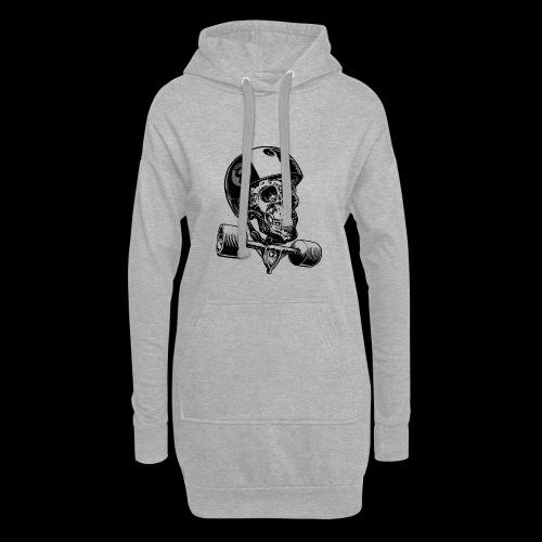 Skull Longboard Rider - positive print - Sweat-shirt à capuche long Femme