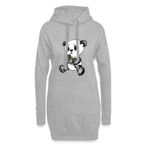 Panda bjørn farvet scribblesirii - Hoodie-kjole