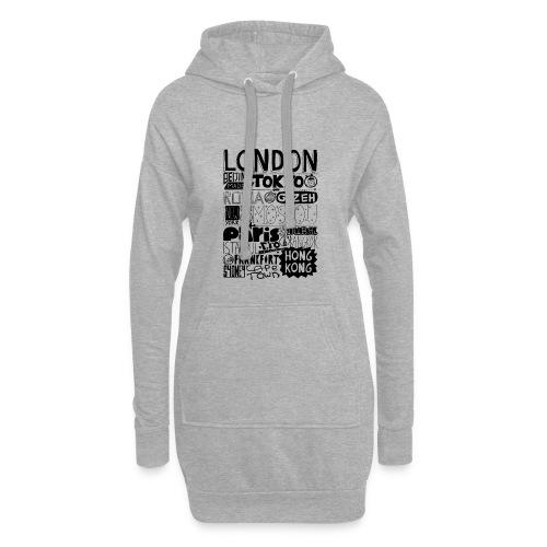 Villes du monde - Sweat-shirt à capuche long Femme