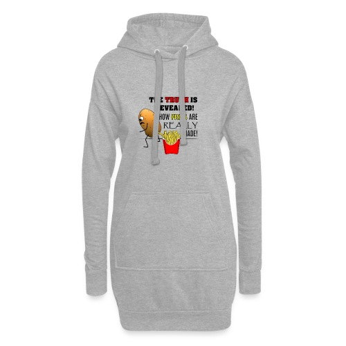 The truth about fries - Hoodie-Kleid