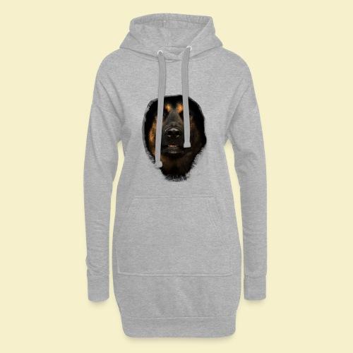 Schäferhund Portrait - Hoodie-Kleid