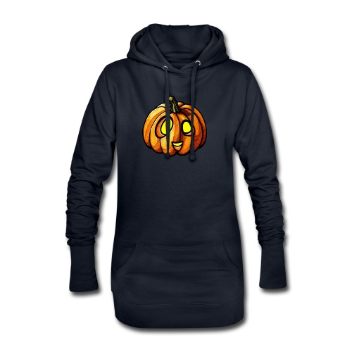 Pumpkin Halloween watercolor scribblesirii - Hoodie-kjole
