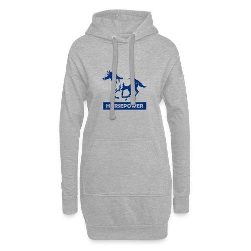 Galoppierendes Pferd Horsepower (Blau) - Hoodie-Kleid