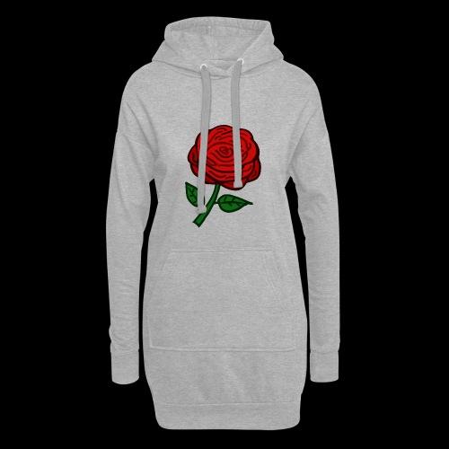 Rote Rose - Hoodie-Kleid