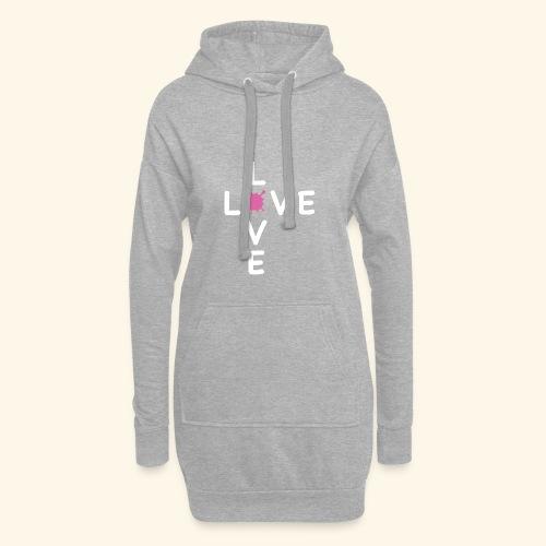 LOVE Cross white klecks pink 001 - Hoodie-Kleid
