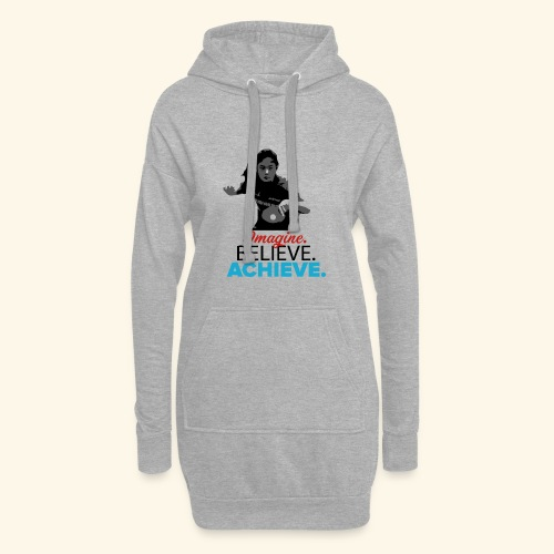 Imagine, Believe, Achieve Table Tennis Champ - Hoodie-Kleid