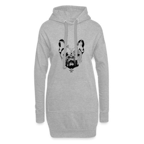 Französische Bulldogge Sketch - Hoodie-Kleid