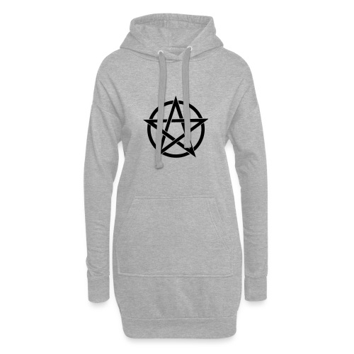 Pentagramme Wicca - Sweat-shirt à capuche long Femme
