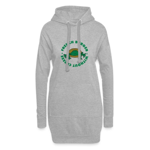 Froschburger French Burger Fastfood Frog ohne Käse - Hoodie-Kleid