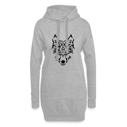 Tribal Wolf - Sweat-shirt à capuche long Femme