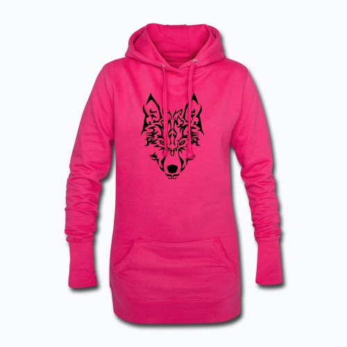 Tribal Wolf - Sweat-shirt à capuche long Femme