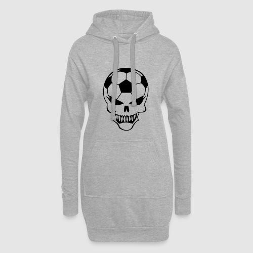 Fußball-Totenkopf - Hoodie-Kleid