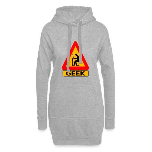 geek_warning - Sweat-shirt à capuche long Femme