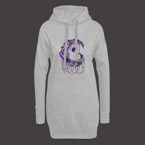 Lune dentelle Violette - Sweat-shirt à capuche long Femme