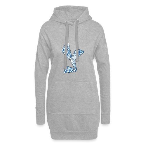 lettera Y blu - Vestitino con cappuccio