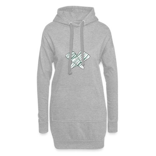 lettera X verde - Vestitino con cappuccio