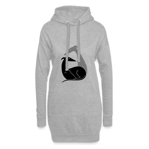 Windhundpaar - Hoodie-Kleid
