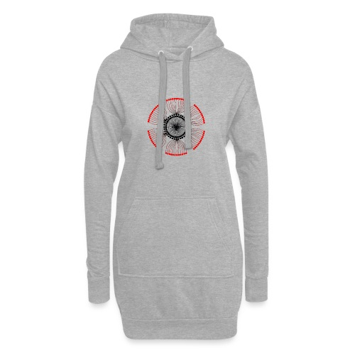 Red Poppy Seeds Mandala - Hoodie Dress