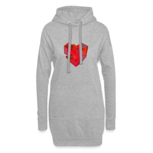 Poly-Heart - Sudadera vestido con capucha