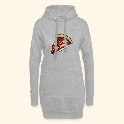 Pizza - Sweat-shirt à capuche long Femme
