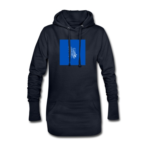 Windy Wings Blue - Hoodie Dress