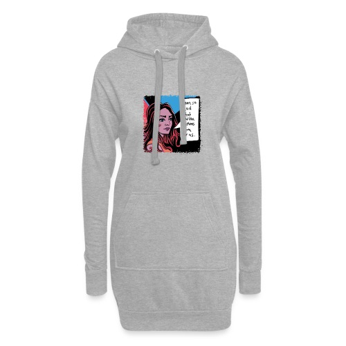 girl01_machine_learning - Hoodie-Kleid