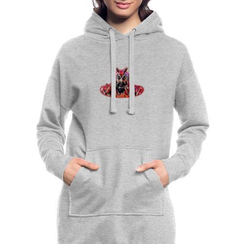 DEMONIO - Sudadera vestido con capucha