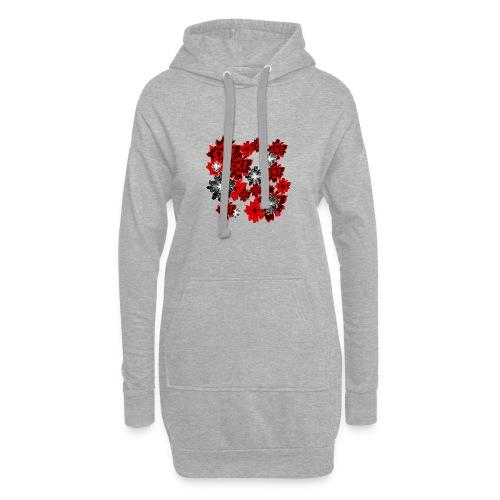 blutrot blüten - Hoodie-Kleid