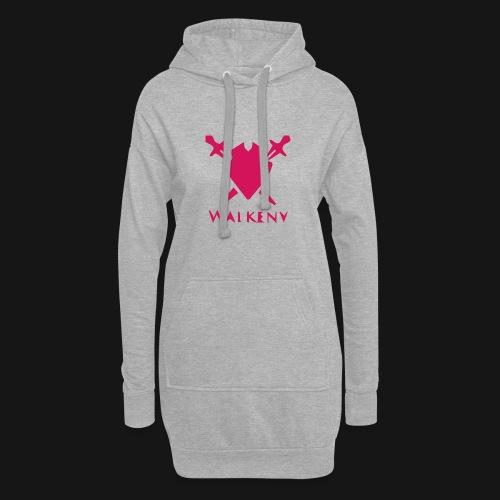 Das Walkeny Logo mit dem Schwert in PINK! - Hoodie-Kleid