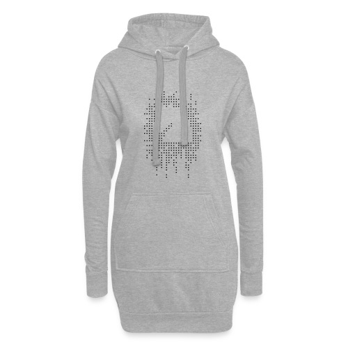 Knight and Dots Inverted - Hoodie Dress