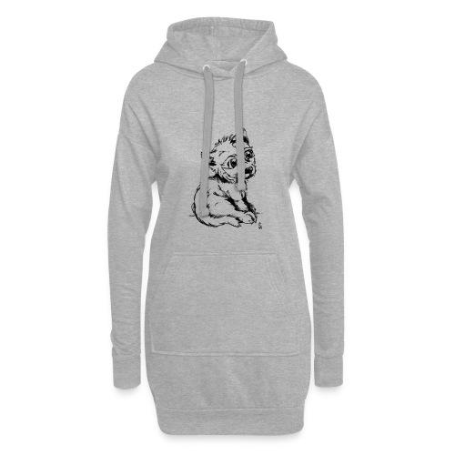 Louvetau - Sweat-shirt à capuche long Femme