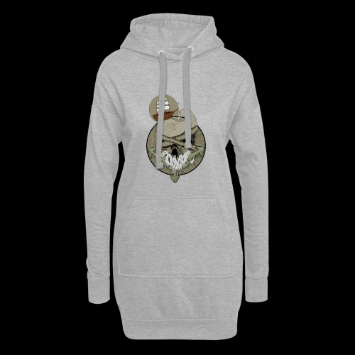 Ancre skull - Sweat-shirt à capuche long Femme