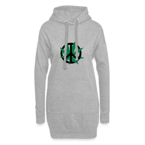 cannabis_peace - Hoodie-Kleid