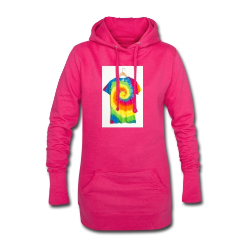 tie die small merch - Hoodie Dress