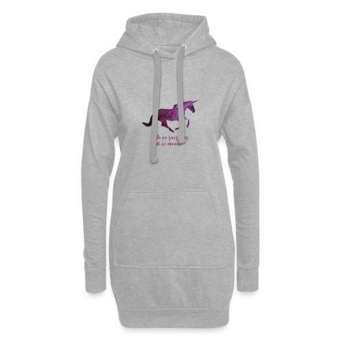 La licorne cosmique - Sweat-shirt à capuche long Femme