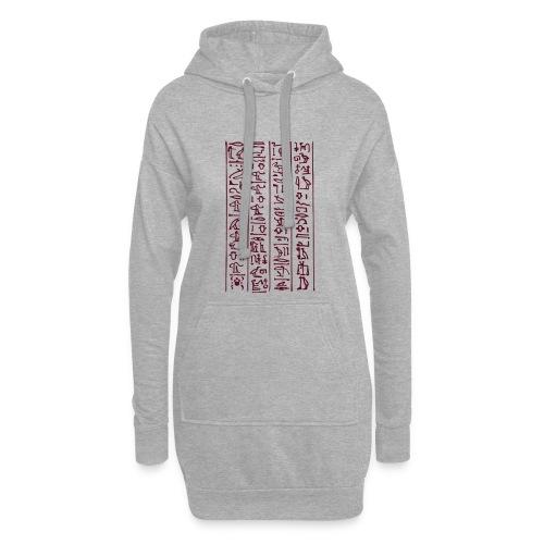 Hieroglyphen - Hoodie-Kleid