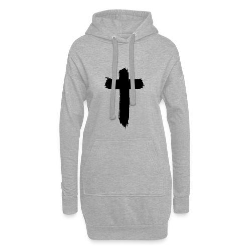 Brushed-Cross - Hoodie-Kleid