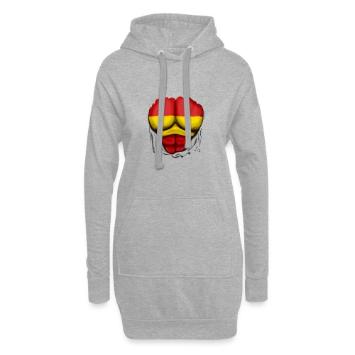 España Flag Ripped Muscles six pack chest t-shirt - Hoodie Dress